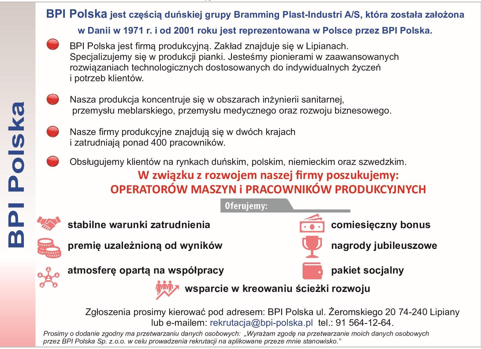 Read more about the article OFERTA PRACY BPI POLSKA