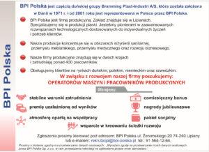 OFERTA PRACY BPI POLSKA